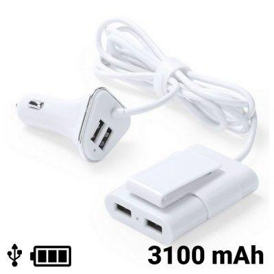 Carregador USB para Automóvel 4 Portas 3100 mAh 145209