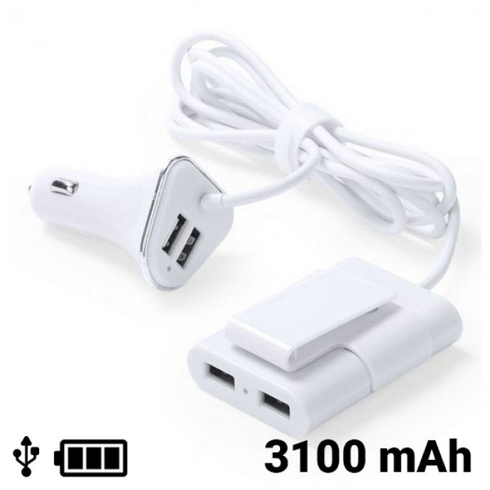 USB Car Charger with 4 Ports 3100 mAh 145209