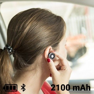 USB Car Charger with Hands Free Headset 2100 mAh Bluetooth 145527