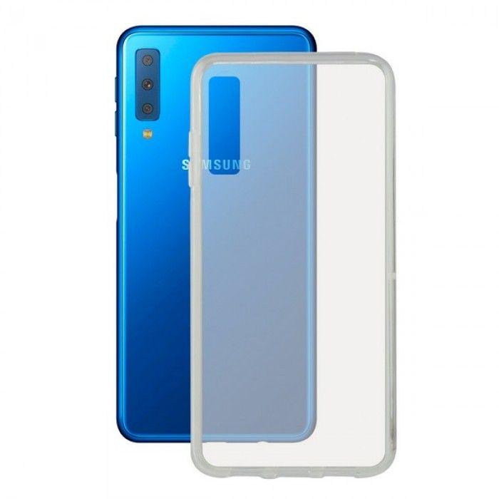 Capa para Telemóvel Samsung Galaxy A7 2018 Flex TPU Transparente