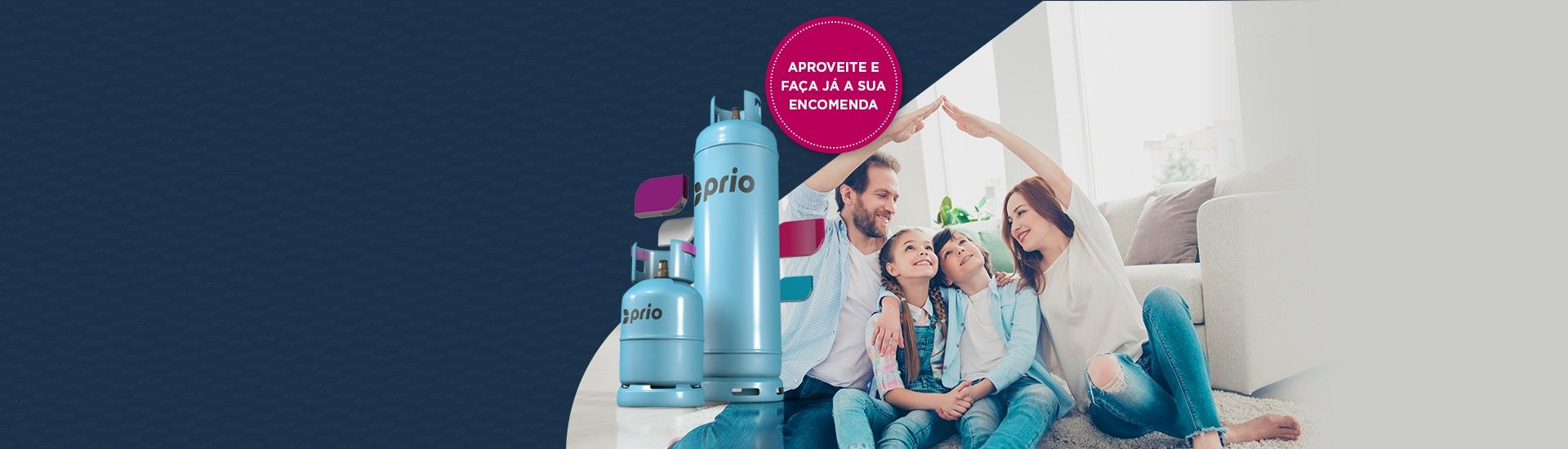 Já pode comprar <br> gás PRIO online