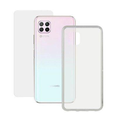 Protetor de vidro temperado para o telemóvel + Estojo para Telemóvel Huawei P40 Lite Contact