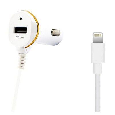 Carregador de Carro ONE 138215 USB Cable Lightning Branco